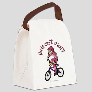 bmx-pink-white-light Canvas Lunch Bag