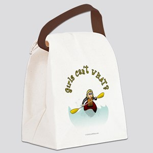 kayaking-blonde Canvas Lunch Bag