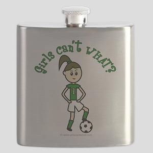 soccer-white-light-green Flask