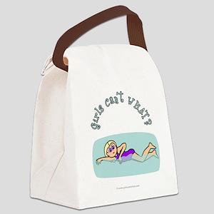 swimmer-light Canvas Lunch Bag