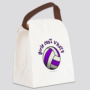 volleyball-purple Canvas Lunch Bag