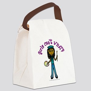 artist-white-dark Canvas Lunch Bag