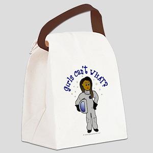 astronaut-dark Canvas Lunch Bag