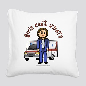 paramedic-light Square Canvas Pillow