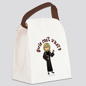 preacher-blonde Canvas Lunch Bag