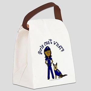 police-white-dark Canvas Lunch Bag