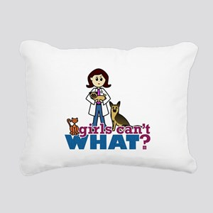 Veterinarian Girl Rectangular Canvas Pillow