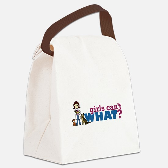 Veterinarian Girl Canvas Lunch Bag