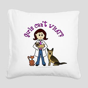 veterinarian-white-light Square Canvas Pillow