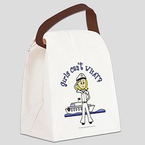 captain-white-light Canvas Lunch Bag