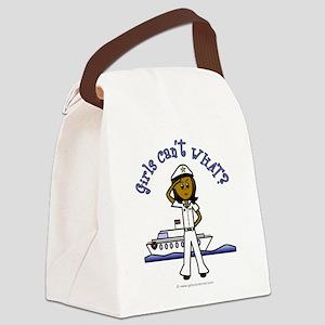 captain-white-dark Canvas Lunch Bag