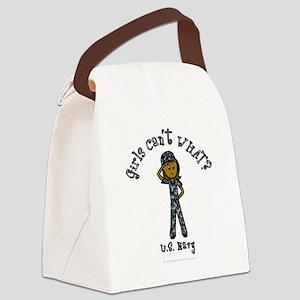 military-navy-us-dark Canvas Lunch Bag