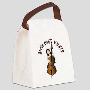 string-bass-light Canvas Lunch Bag
