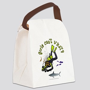 diver-dark Canvas Lunch Bag