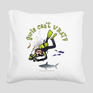 diver-light Square Canvas Pillow