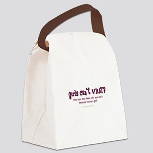 Text Only Canvas Lunch Bag