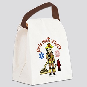 Custom Firefighter Canvas Lunch Bag
