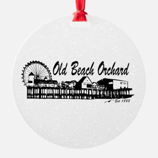 Old Orchard Beach ME - Pier Design. Ornament