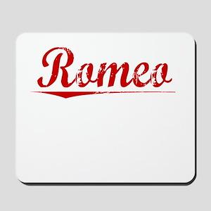 Romeo, Vintage Red Mousepad