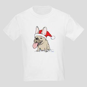 French Bulldog Christmas Kids Light T-Shirt