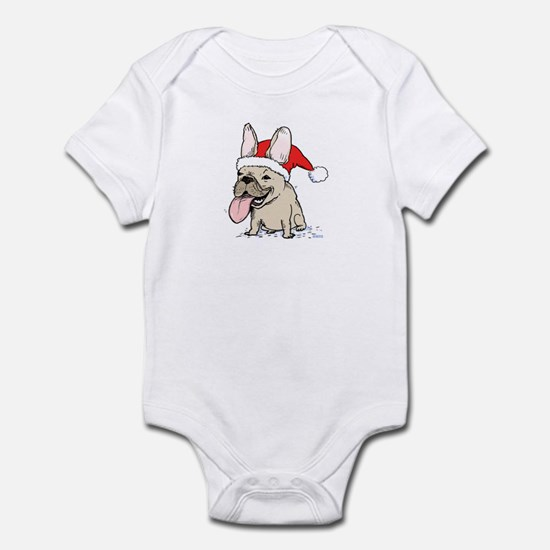 French Bulldog Christmas Infant Bodysuit