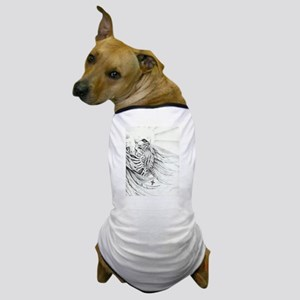 Skeleton with Rosary Dog T-Shirt