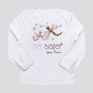 Big Sister Dragonfly Personalized Long Sleeve Infa