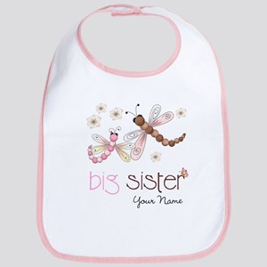 Big Sister Dragonfly Personalized Bib