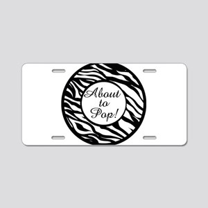 Animal Print About to Pop Aluminum License Plate