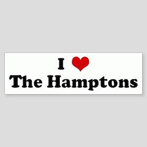 I Love The Hamptons Bumper Sticker
