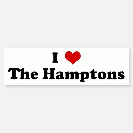 I Love The Hamptons Bumper Bumper Bumper Sticker