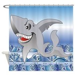 Funny Laughing Shark Shower Curtain