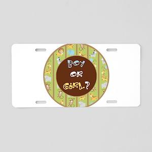 Safari Boy or Girl Aluminum License Plate