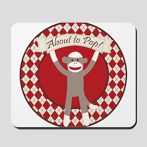 Sock Monkey About to Pop Mousepad