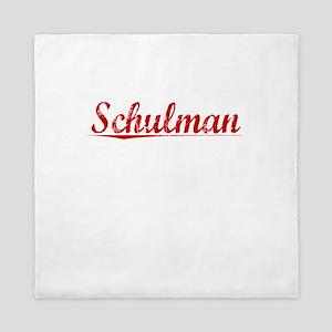Schulman, Vintage Red Queen Duvet