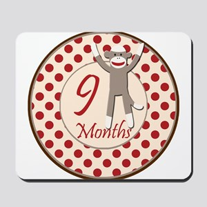 Sock Monkey 9 Months Milestone Mousepad