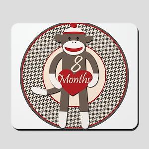 Sock Monkey 8 Months Milestone Mousepad