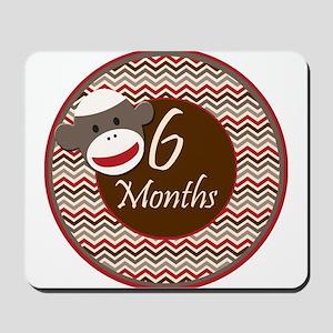 Sock Monkey 6 Months Milestone Mousepad