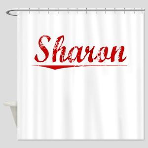 Sharon, Vintage Red Shower Curtain