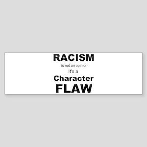 Racism blk Bumper Sticker