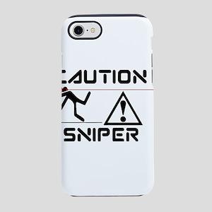 sniper caution iPhone 7 Tough Case