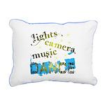 Lights Camera Music Dance Canvas Pillow
