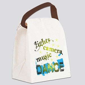 Lights Camera Music Dance Canvas Lunch Bag