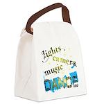 Lights Camera Music Dance Canvas Lunch Bag