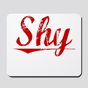 Shy, Vintage Red Mousepad