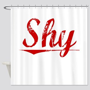 Shy, Vintage Red Shower Curtain