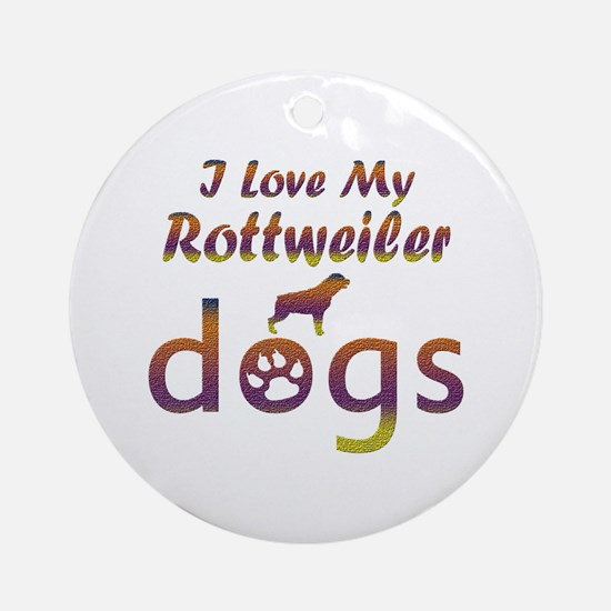 Rottweiler designs Ornament (Round)