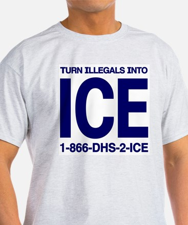 TURN ILLEGALS INTO ICE - Ash Grey T-Shirt