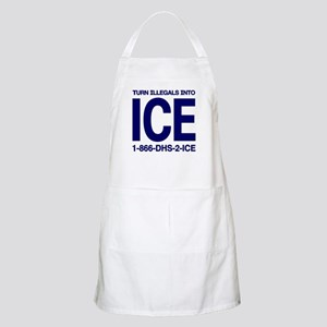 TURN ILLEGALS INTO ICE -  BBQ Apron