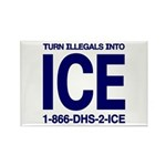 TURN ILLEGALS INTO ICE - Rectangle Magnet (10 pac